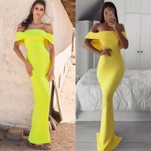 House of CB Shelby Off The Shoulders Gown